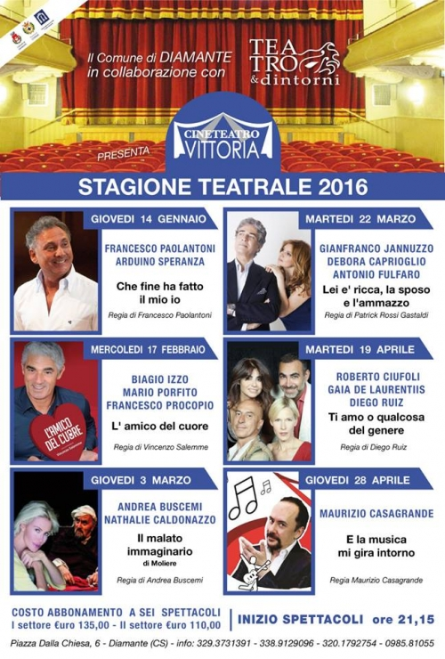 STAGIONE TEATRALE 2016